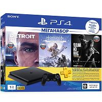 Sony PlayStation 4 1Tb Slim + Detroit + Horizon Zero Dawn + Одни из нас