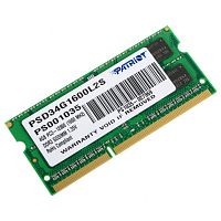 Модуль памяти So-DIMM Patriot PSD34G1600L2S DDR3L 4GB 1600MHz