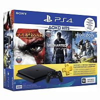 Sony PlayStation 4 500Gb Slim + God of War + Horizon: Zero Dawn + Uncharted 4: Путь вора