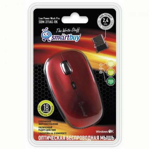 Мышь SmartBuy 311AG-RK Red-Black USB