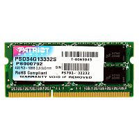 Модуль памяти So-DIMM Patriot PSD34G13332S DDR3 4GB 1333MHz